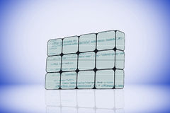 Programming code on an abstract cube Royalty Free Stock Photo