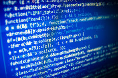 Programming code abstract screen of software developer. Royalty Free Stock Photography