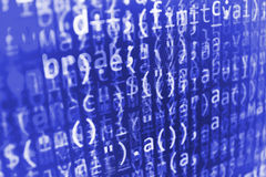 Programming code abstract screen of software developer. Royalty Free Stock Images