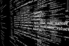 Programming code abstract technology background. On black. 3d illustration Stock Photo