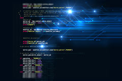 Programming code abstract technology background of software deve Stock Image
