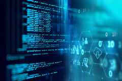 Programming code abstract technology background of software deve Stock Photos