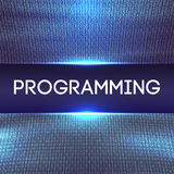 Programming code abstract technology background. Web Developer Javascript.Abstract Computer Script.Program Code. Vector Illustration Royalty Free Illustration