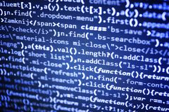 Programming code abstract technology. Royalty Free Stock Photos