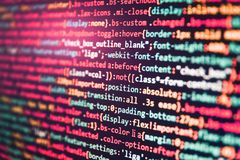 Programming code abstract technology. Big data storage and cloud royalty free stock images