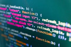 Programming code abstract technology. Search engine optimization stock photo