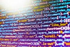 Programming code abstract technology. Software source code. Programming code abstract technology stock images