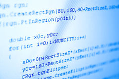 Programming code blue tint Royalty Free Stock Photo