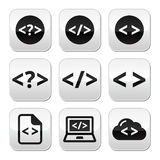 Programming code  buttons set Royalty Free Stock Images