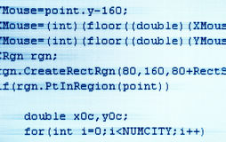 Programming code closeup Stock Photos