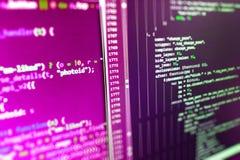 Programming code. Coding hacker. Abstract computer script code. Programming code. Coding hacker stock photos