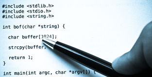 Programming code language blue tint Royalty Free Stock Photo