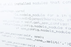Programming code on a white background Royalty Free Stock Images