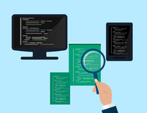 Programming and coding concept, website development, Web Design. Flat Illustration Stock Image