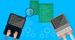 Programming and coding concept, website development, Web Design. Flat Illustration Royalty Free Stock Image