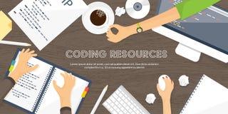 Programming,coding. Flat computing background. Code, hardware,software. Web development. Search engine optimization. Innovationtechnologies Mobile app Vector vector illustration