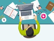 Programming,coding. Flat computing background. Code, hardware,software. Web development. Search engine optimization. Innovationtechnologies Mobile app Vector royalty free illustration