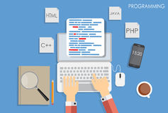 Programming Coding Flat Concept Vector Stock Photos