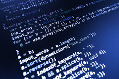 Programming coding source code screen. Stock Images