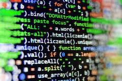 Programming coding source code screen. Royalty Free Stock Photo