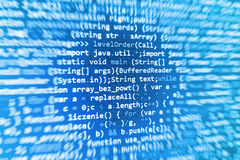 Programming coding source code screen. Programming code abstract screen software developer. Computer script Royalty Free Stock Images