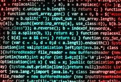 Programming coding source code screen. Programming code abstract screen software developer. Computer script Stock Photography