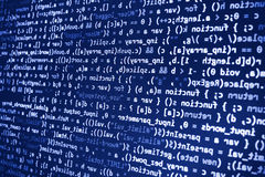 Programming coding source code screen. Programming code abstract screen software developer. Computer script Stock Photos