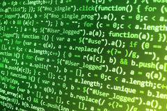 Programming coding source code screen. Royalty Free Stock Photography