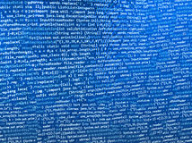 Programming coding source code screen. Royalty Free Stock Image