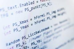 Programming coding source code screen. Stock Photos