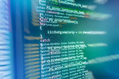 Programming coding source code screen. Stock Photography
