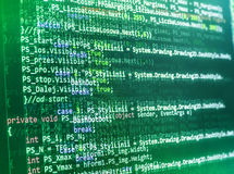 Programming coding source code screen. Stock Photos