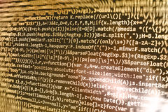 Programming coding source code screen. Royalty Free Stock Images