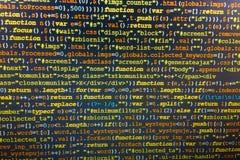 Programming coding source code screen. Royalty Free Stock Photo