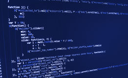 Programming coding source code screen. Royalty Free Stock Photos