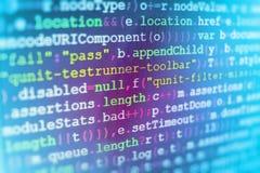 Programming coding source code screen. Programming code abstract screen software developer. Computer script stock illustration