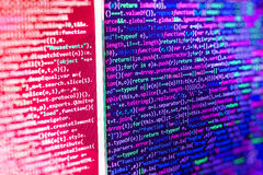 Programming coding source code screen. Stock Image
