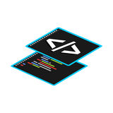 Programming or coding symbol Royalty Free Stock Photography