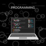 Programming and coding. Web development concept. vector