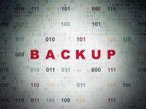 Programming concept: Backup on Digital Data Paper background Stock Image