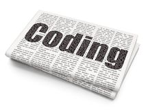 Programming concept: Coding on Newspaper background Royalty Free Stock Photography