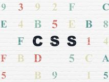 Programming concept: Css on wall background Royalty Free Stock Photos