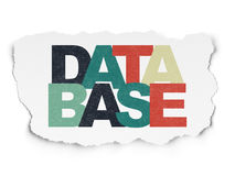 Programming concept: Database on Torn Paper background Stock Photos