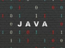 Programming concept: Java on wall background royalty free illustration