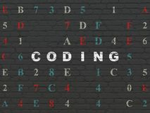 Programming concept: Coding on wall background Royalty Free Stock Images