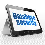 Programming concept: Tablet Computer with Database Security on display Stock Photos
