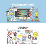 Programming and design. Royalty Free Stock Images
