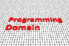 Programming domain. In the form of binary code, 3D illustration Stock Images
