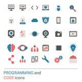 Programming icon set vector illustration