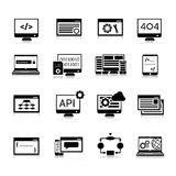 Programming Icons Black Stock Image